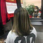 asian women hair highlights